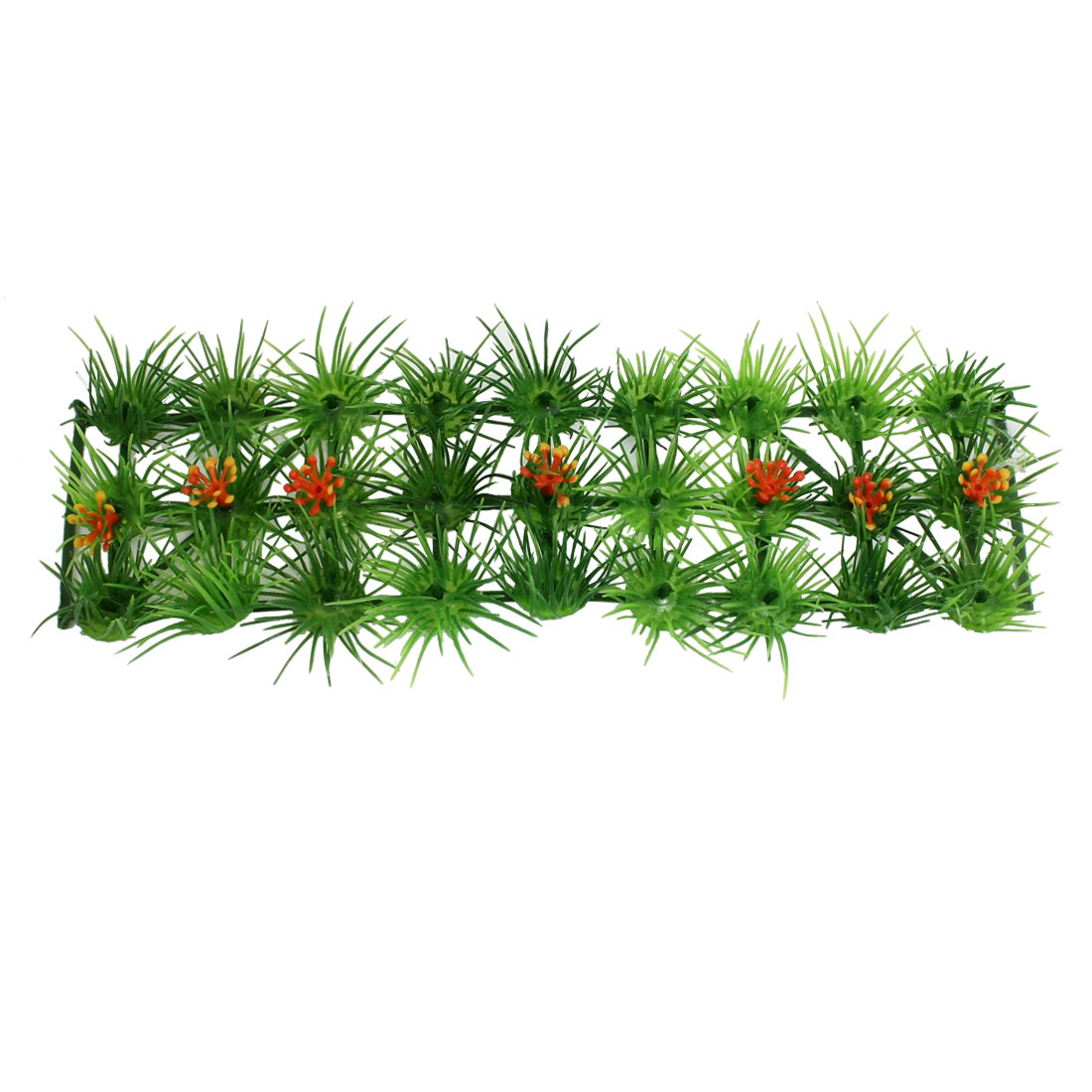 "9"" x 2.7"" Square Strip Design Fish Tank Aquarium Water Plastic Leaves Grass Green"
