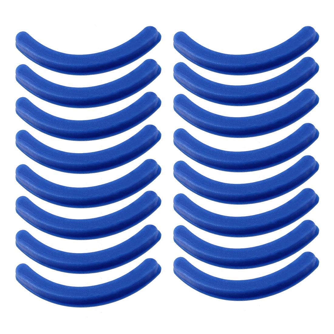 Flexible Rubber Eyelash Curler Replaceable Cushion Pads Blue 16 Pcs