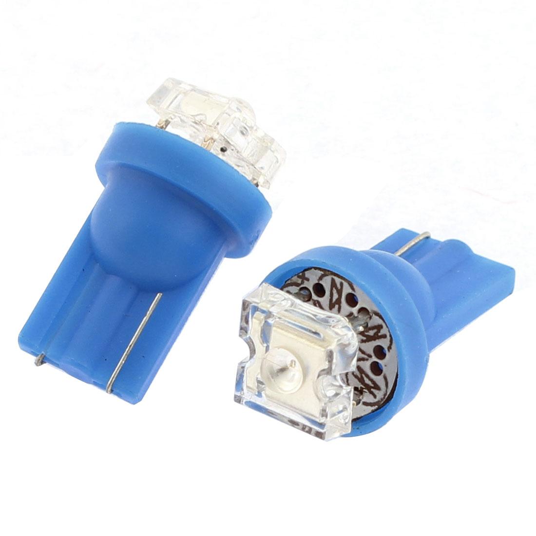 6 Pcs T10 Blue LED 168 194 W5W Backup Map Light Bulb Lamp DC 12V