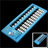 Intelligence 11 Digits Japanese Abacus Counting Tool Light Blue White