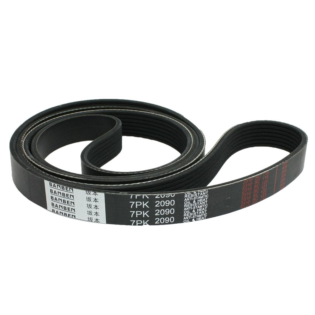 7PK2090 Car Auto Black Rubber Poly-V Serpentine Belt