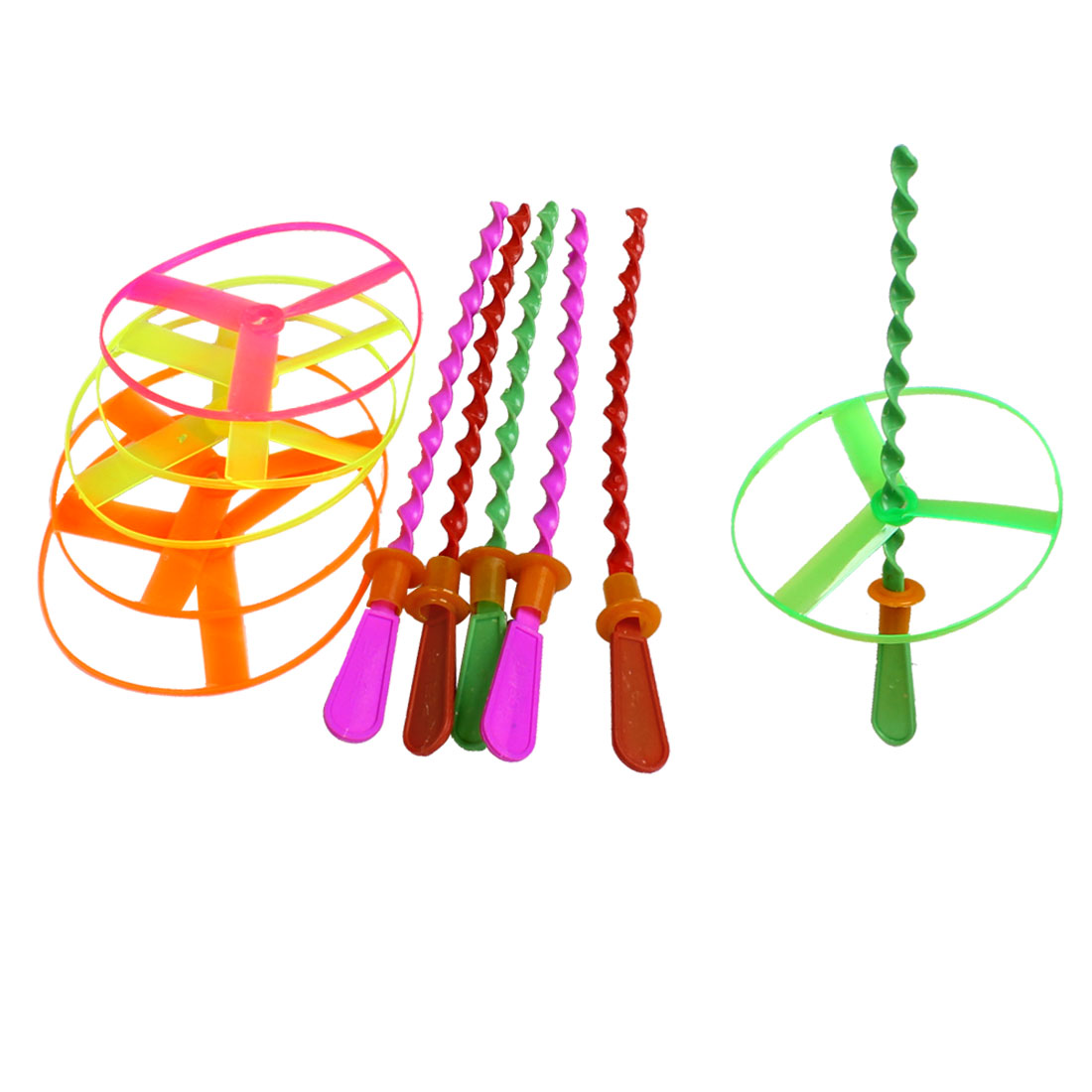 Child Assorted Color Hand Spinning Shooter Flying Saucer Disc Toy 6 Sets