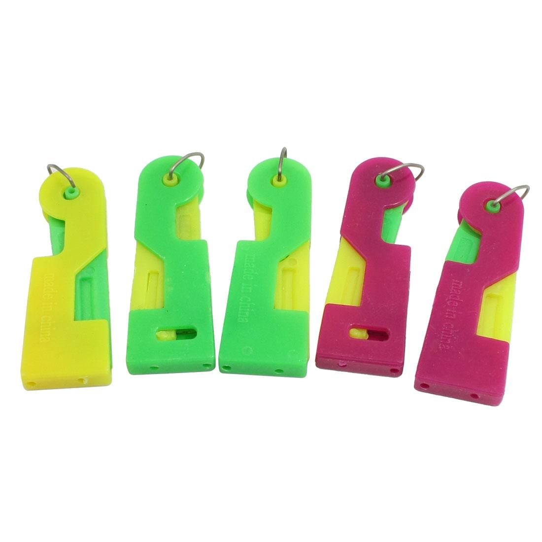 5 Pcs Elder Sewing Helper Plastic Needle Threading Inserters