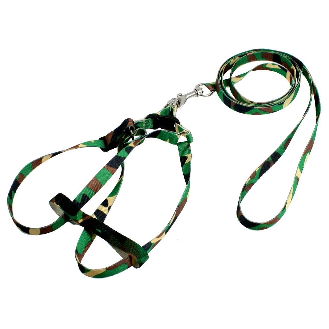 Camouflage Pattern Adjustable Nylon Pet Puppy Dog Harness Leash Rope