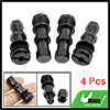 Black Metal Universal Automobile Car Truck Tire Valve Stem Kit 4 Pcs