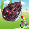 Adult Black Red Silver Tone Bicycle Bike Cycling Striped Design Foam Helmet