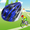 Skating Bicycle Bike Cycling Striped Helmet Black Blue Silver Tone for Unisex