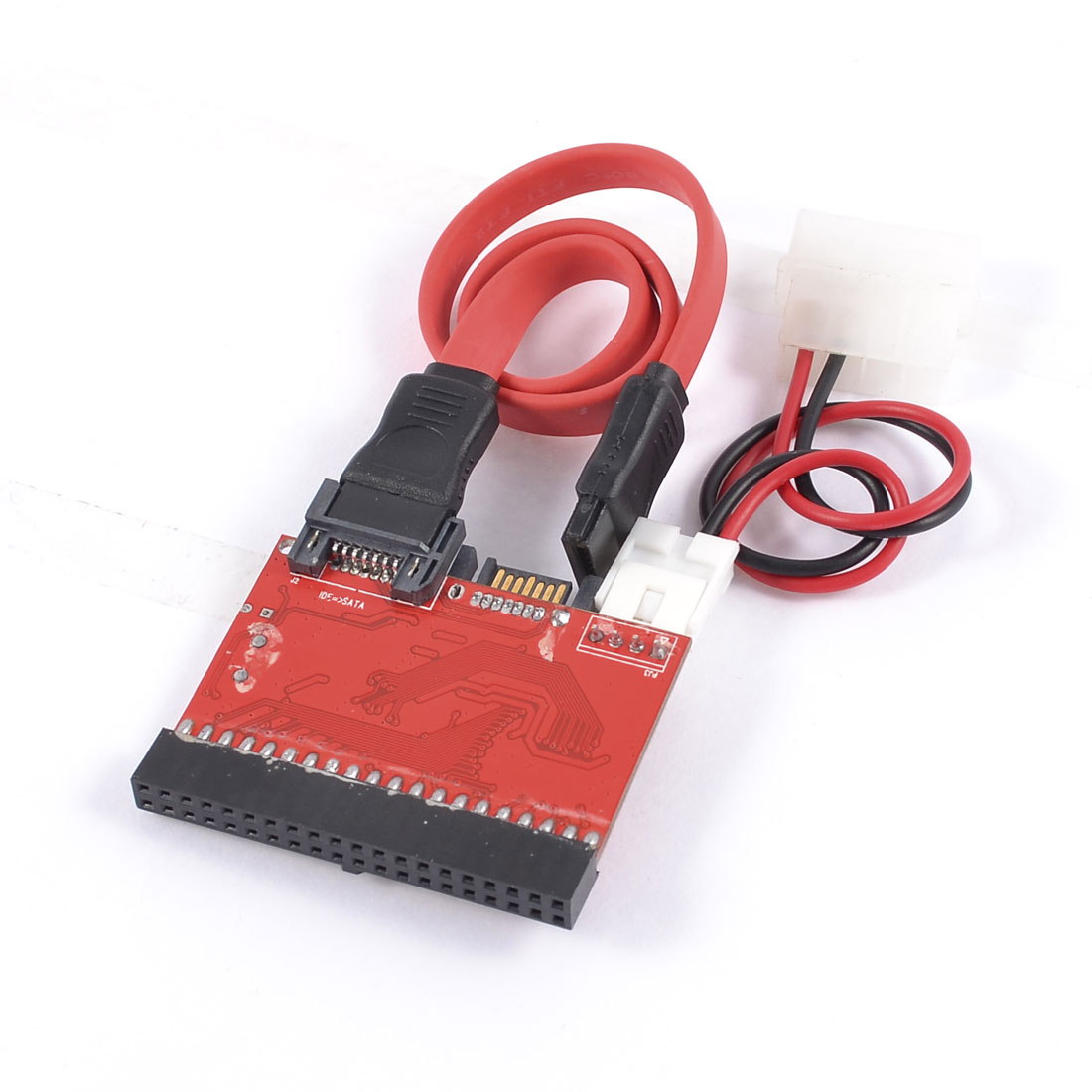 Bidirectional 2 Way HDD IDE to SATA Adapter Connector Red Black