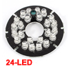 Red 24-LED Infrared Bulbs 90 Degree CCTV Security Camera IR Board Repair Parts