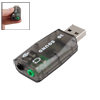 3.5mm Microphone Earphone Jack USB 2.0 to 3D Sound Card 5.1 CH Adapter for PC Laptop
