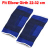 Athletics Black Blue Stripes Pattern Stretchy Elbow Support Pullover Sleeve Pair