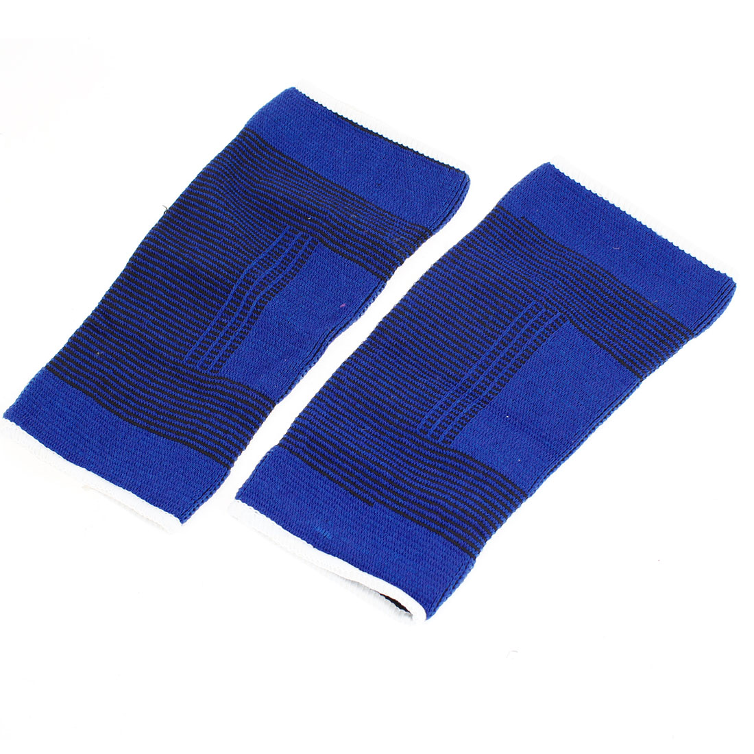 2 Pcs Blue Elastic Strechy Fabric Band Athletic Elbow Protector
