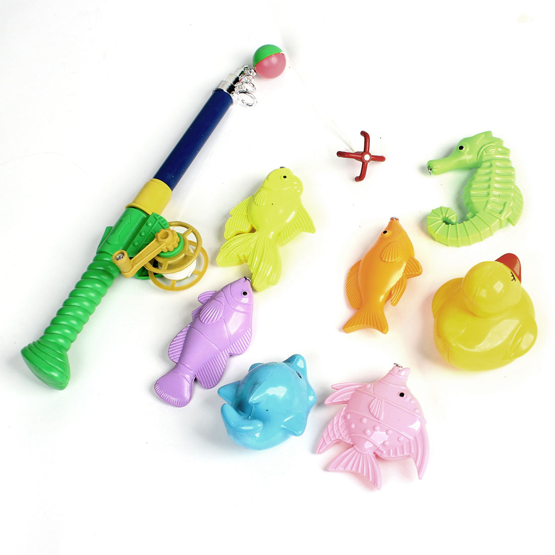 Assorted Colors Plastic Trapical Fish Duck Seahorse Magnetic Fishing Rod Toy