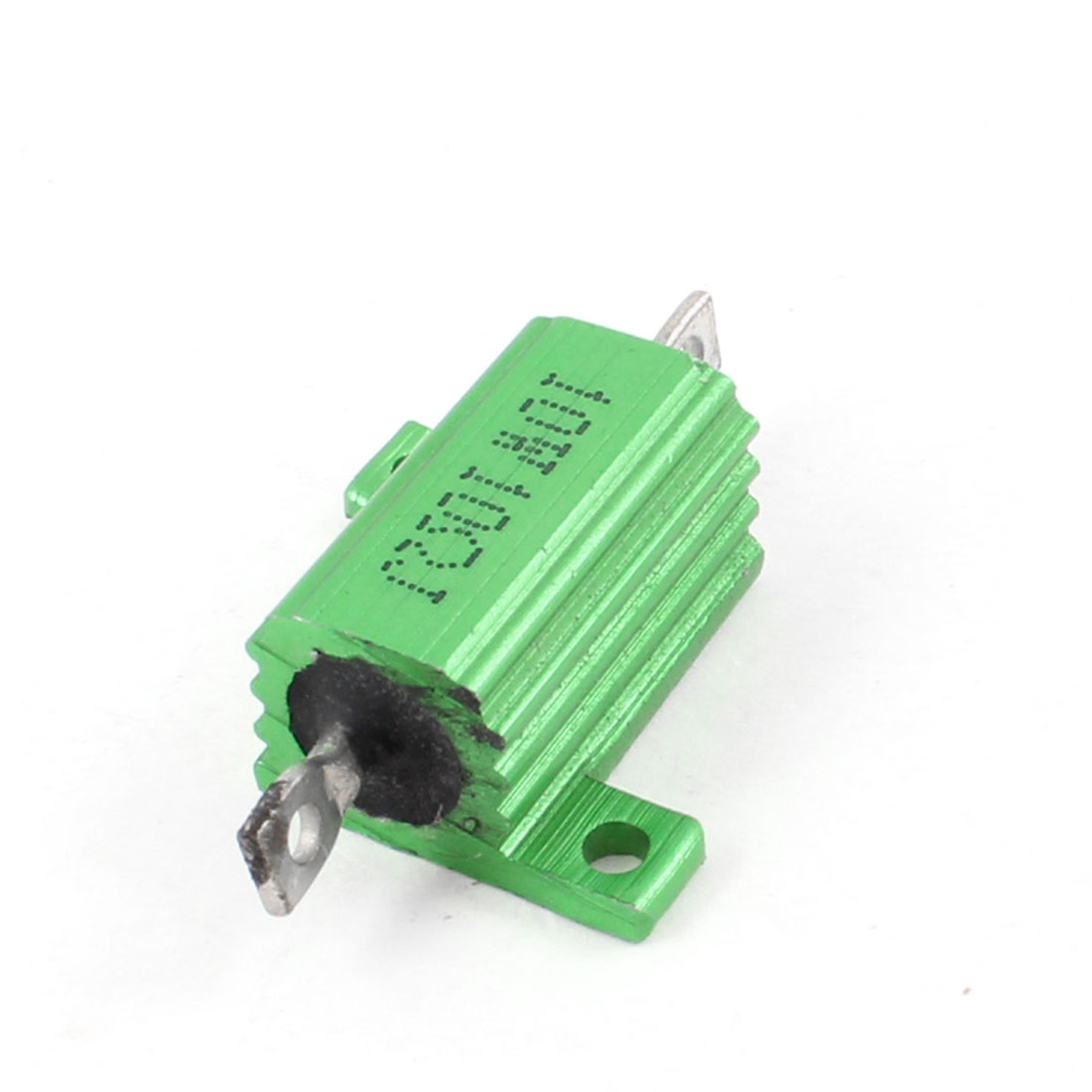 Green Aluminum Chassis Mounted Wirewound Resistors 10W 10 Ohm 5%