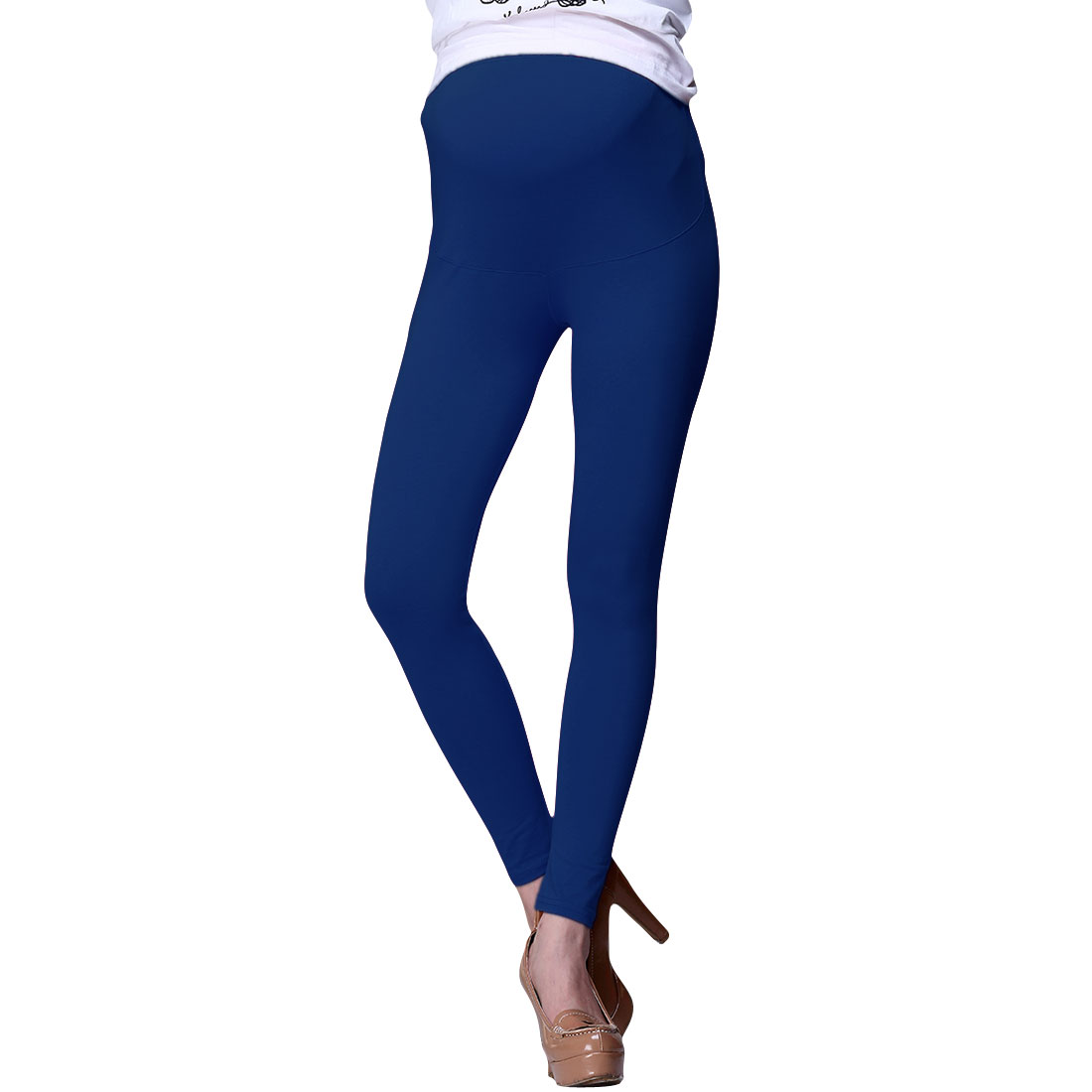 Motherhood Elastic Waistband Slim Fit Stretch Blue Leggings XS