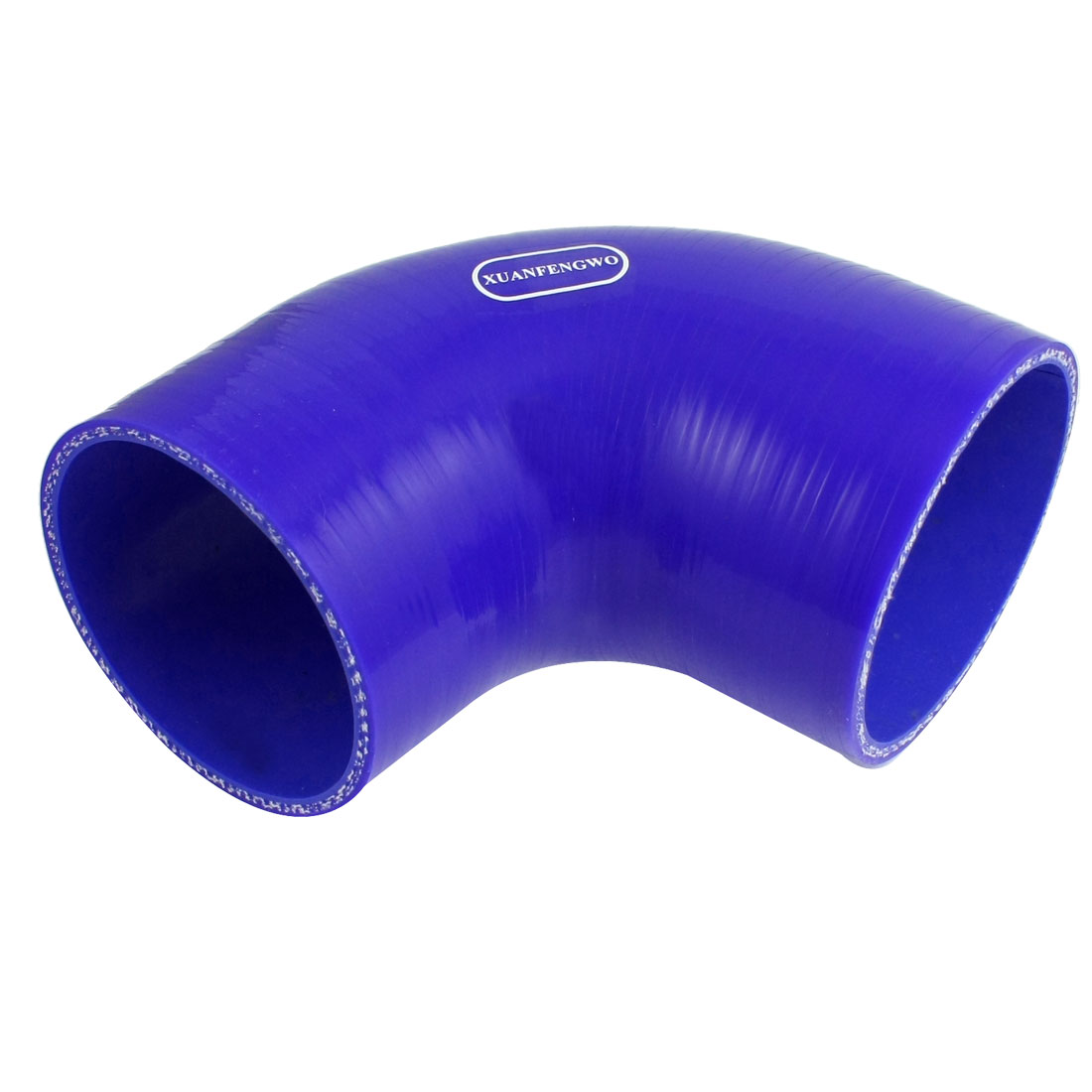 Car Cooling System 76-83mm Inner Dia 90 Degree Elbow Silicone Hose Reducer Blue