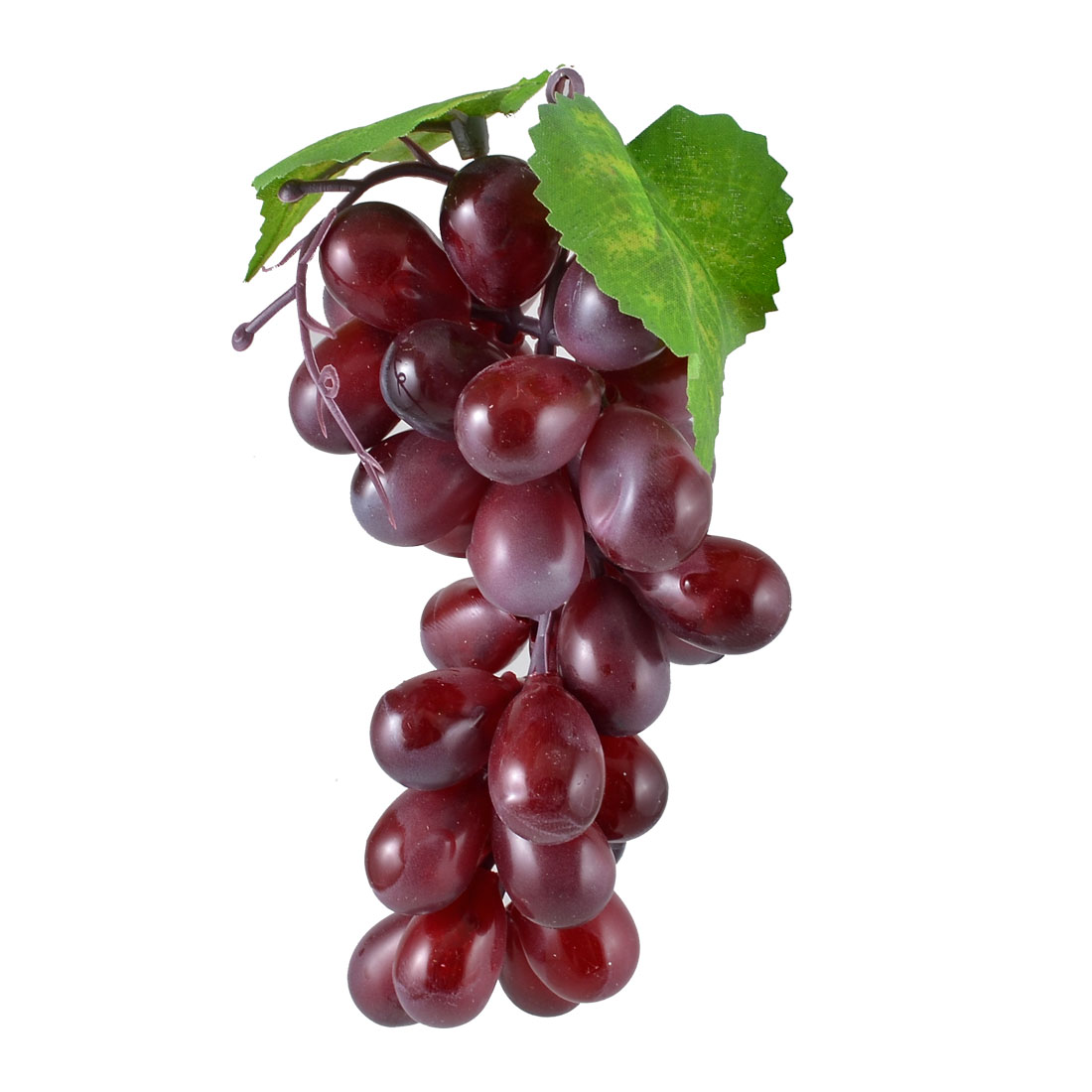 Purple Soft Plastic Artificial Grapes Cluster Fruit Decor Desk Table Decoration