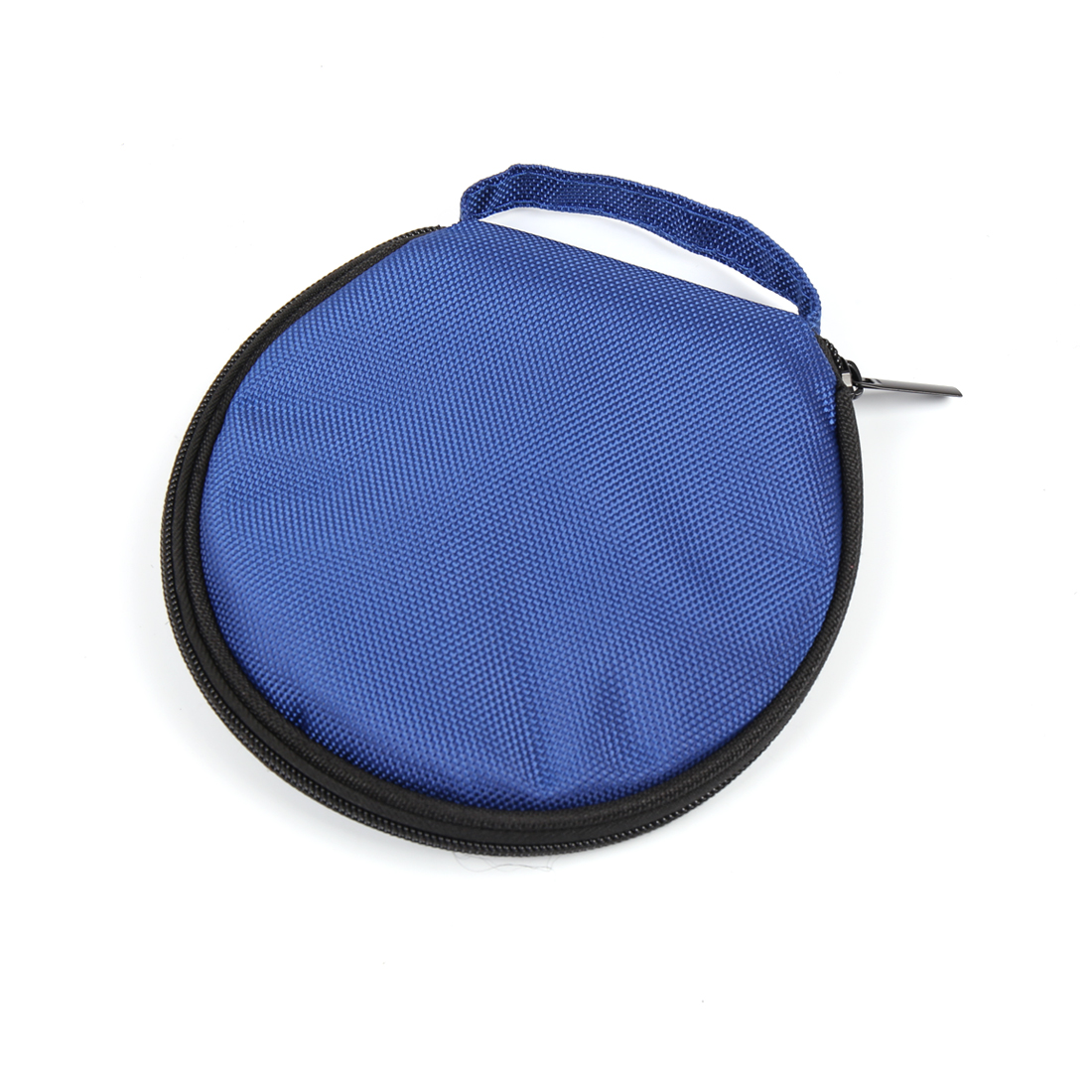 Blue Nylon 20 Capacity Round Wallet Case Storage Holder for Disc CD DVD VCD