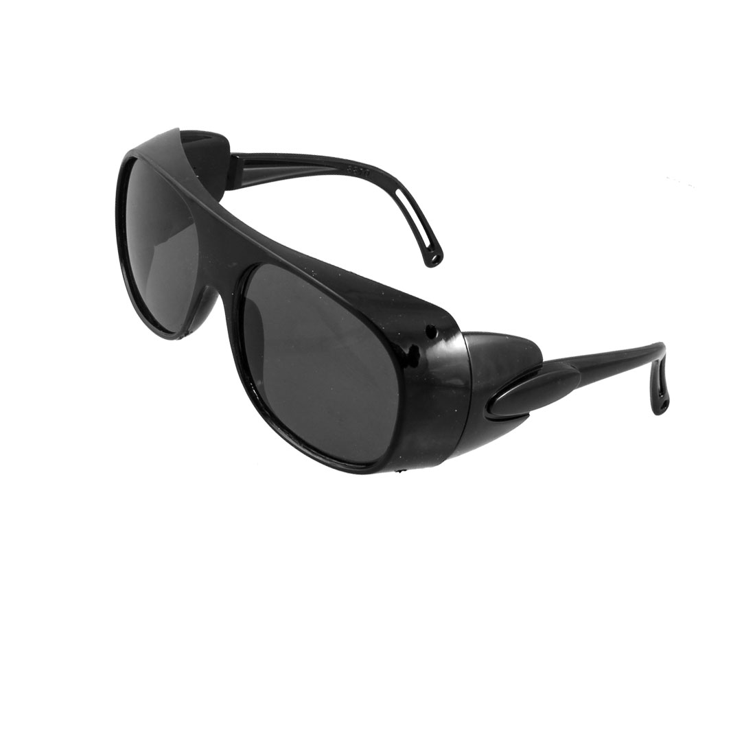 "5.1"" Width Black Frame Dark Gray Rectangle Lens Protective Goggles"