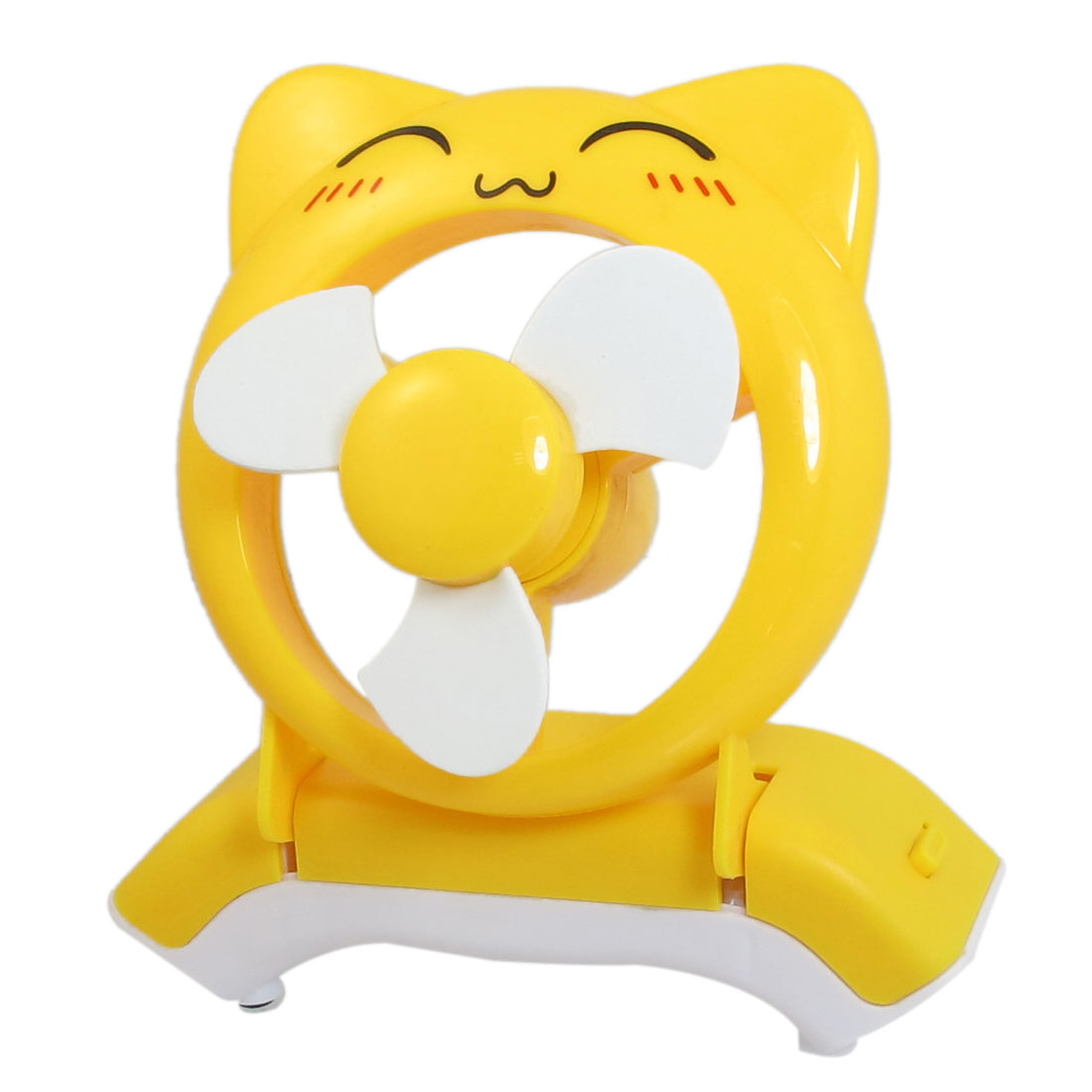 Cartoon Bear Design Portable Battery USB Power PC Laptop Cooler Mini Fan Yellow
