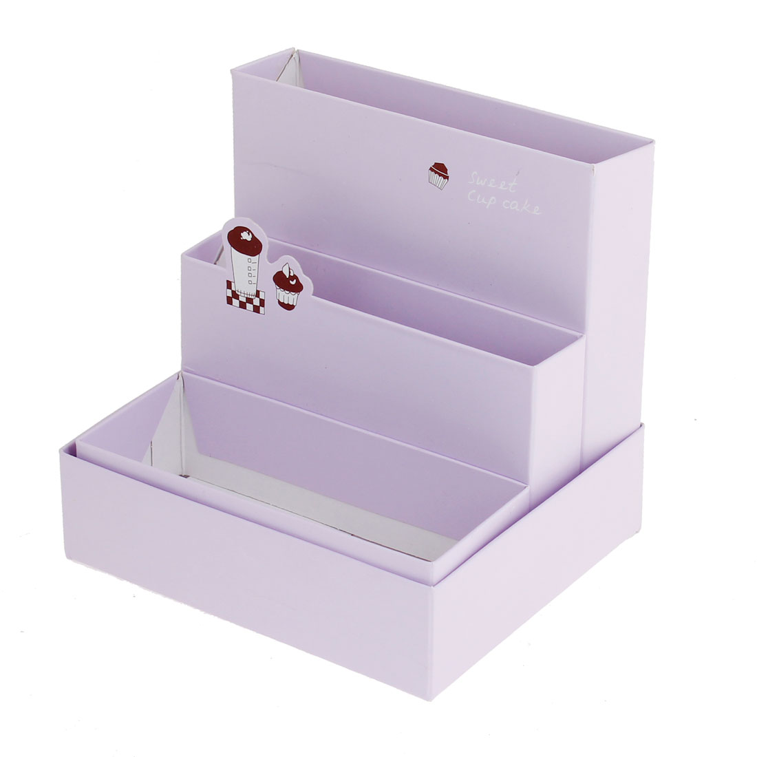 Light Purple Foldable Eyebrow Brush Tweezer Holder Cosmetic Tools Organizer Storage Box