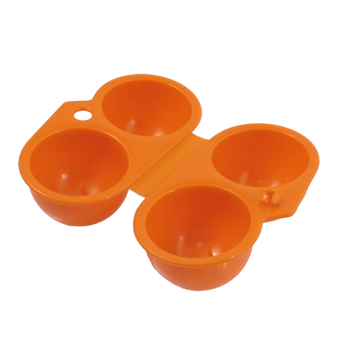 Camping Garden Orange Plastic Foldable Storage Case 2 Egg Holder Carrier