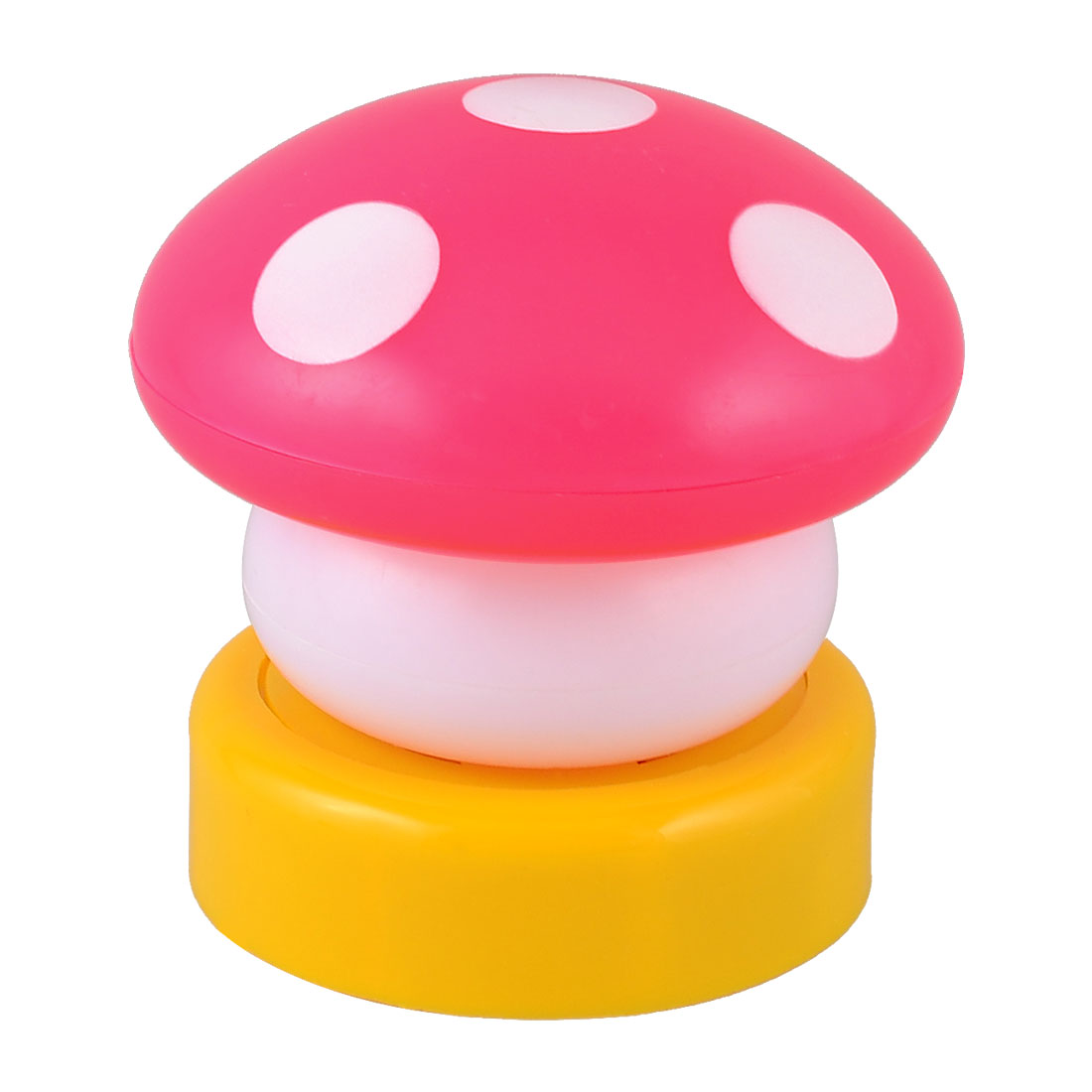 Bedroom Desk Ornament Magenta Plastic Shell Pink LED Mushroom Night Lamp Light