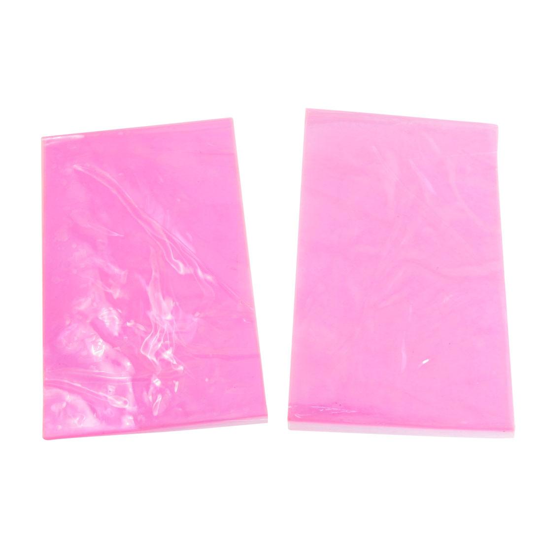 2 Pcs Clear Pink Soft Plastic Band Leg Shaper Slimming Sauna Belt