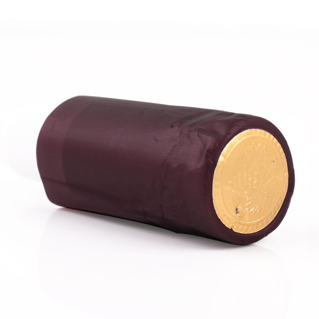 Gold Tone Burgundy PVC Wine Shrink Capsules for Wine Bottles