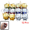 12 Pcs Christmas Tree Assorted Color Drum Hanger Ornament
