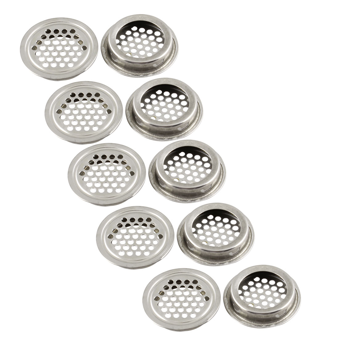 10 Pcs 43mm Diameter Hardware Stainless Steel Round Air Vent Louver