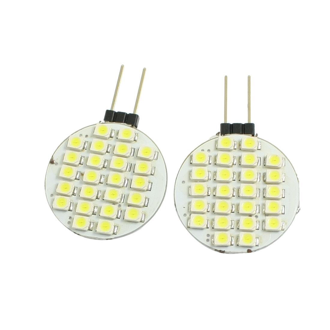2 Pcs Side Pin G4 White 1210 3528 SMD 24 LED Bulb Light Lamp