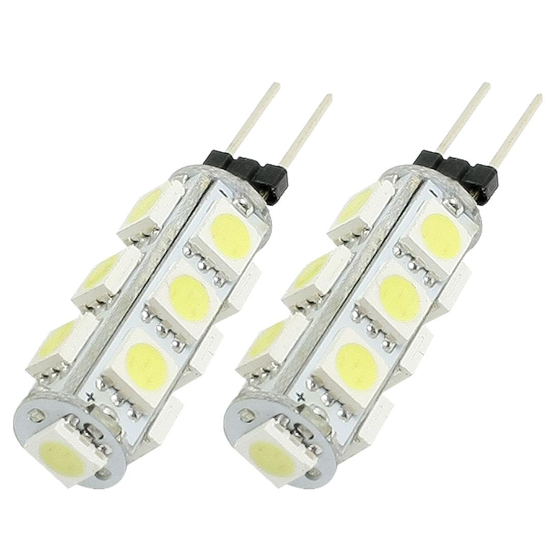2 Pcs Vertical Pin G4 Base White 5050 SMD 13 LED Bulb Light Lamp