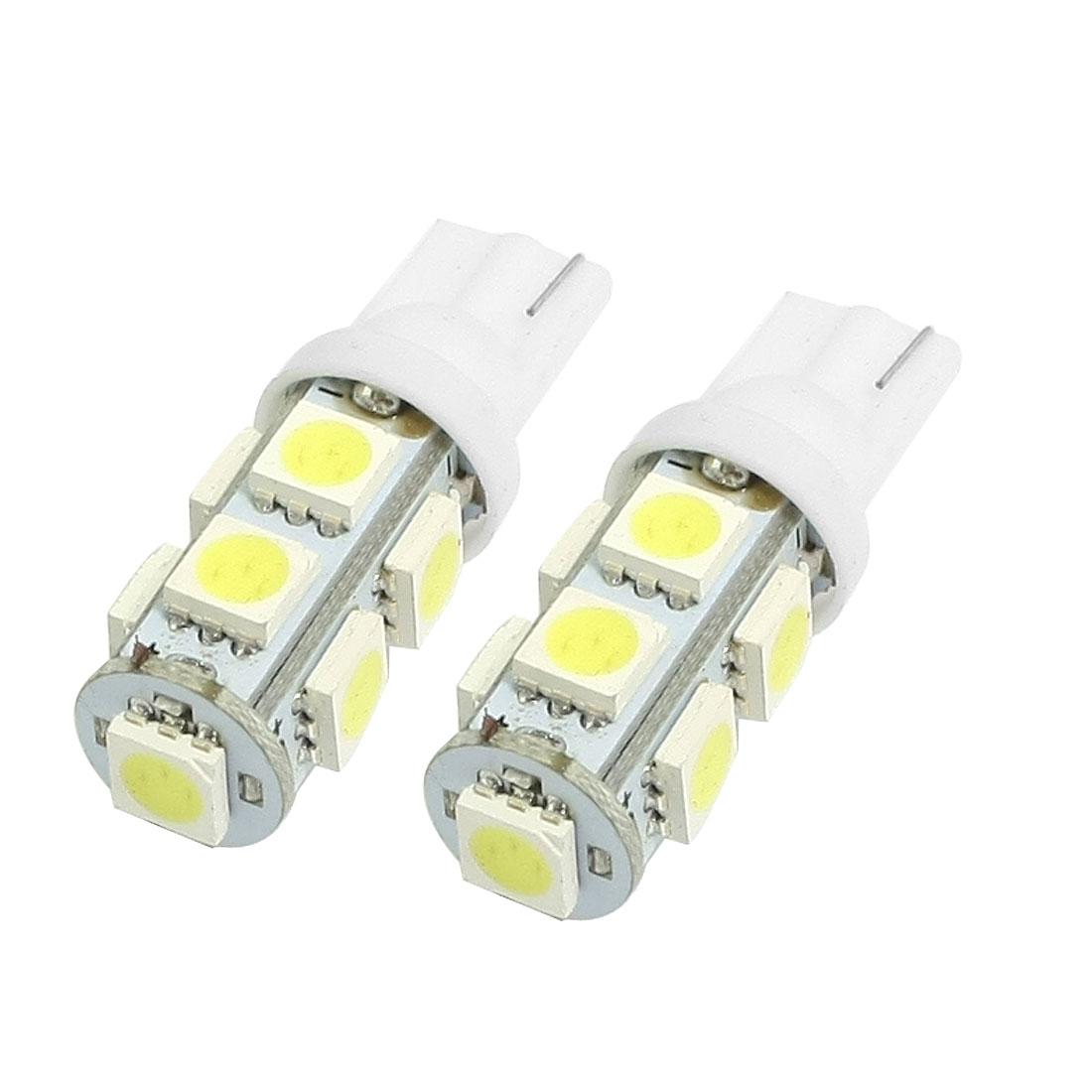 2 Pcs Car T10 194 White 5050 9 SMD LED Reading Backup Light Bulb Lamp internal