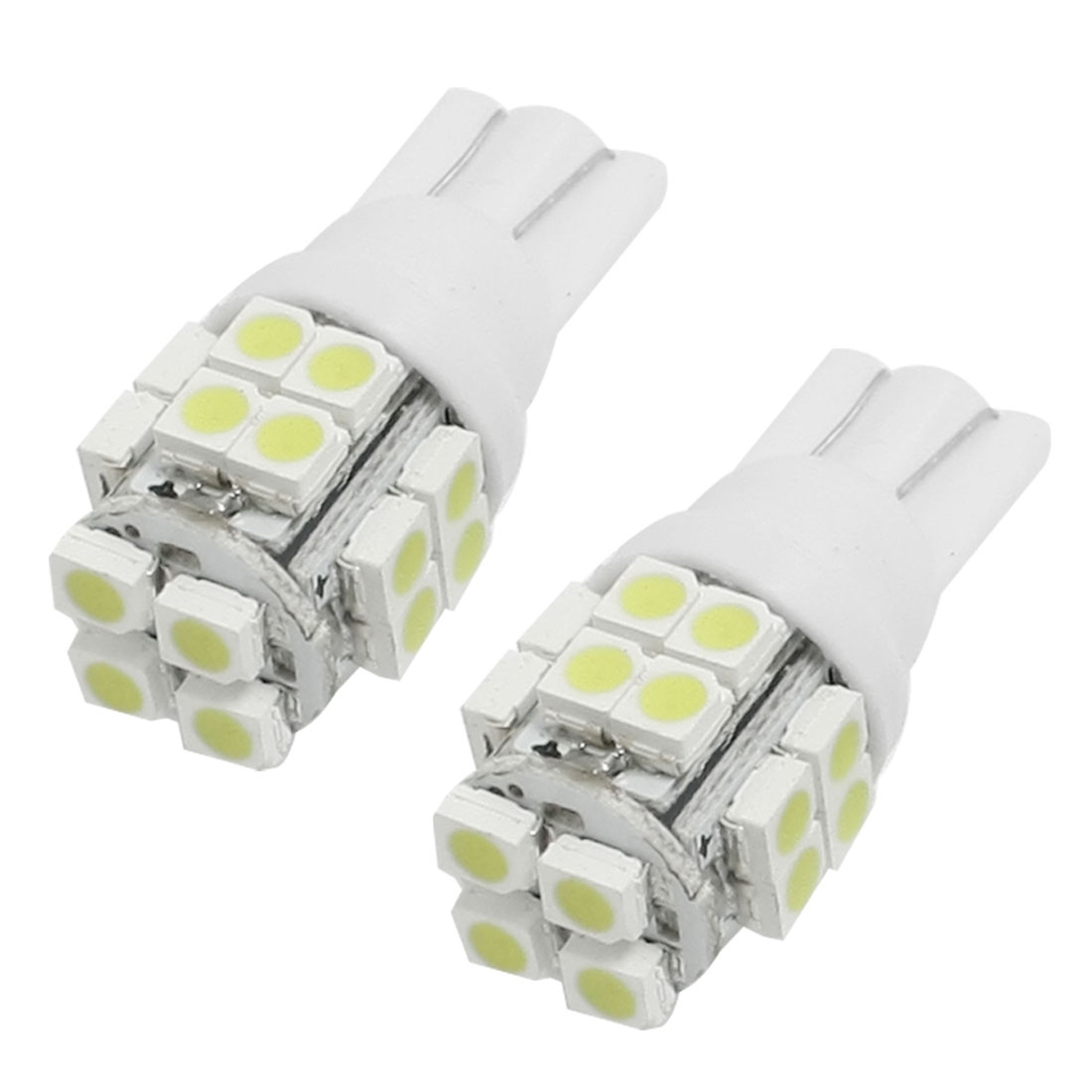 2 Pcs Car Auto T10 White 20-SMD 1210 158 168 194 LED Light Bulb Lamp internal