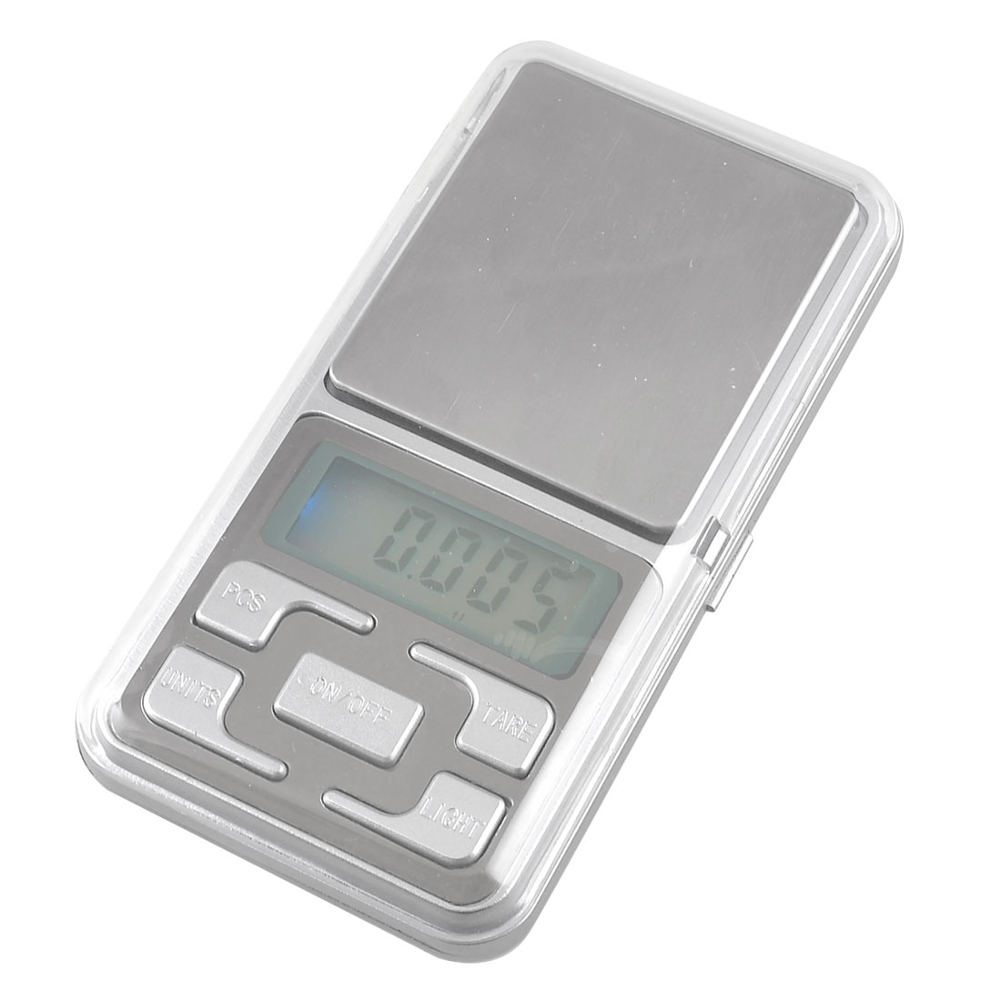 LED Back Light Max 500g LCD Digital Display Electronic Pocket Scale Silver Tone