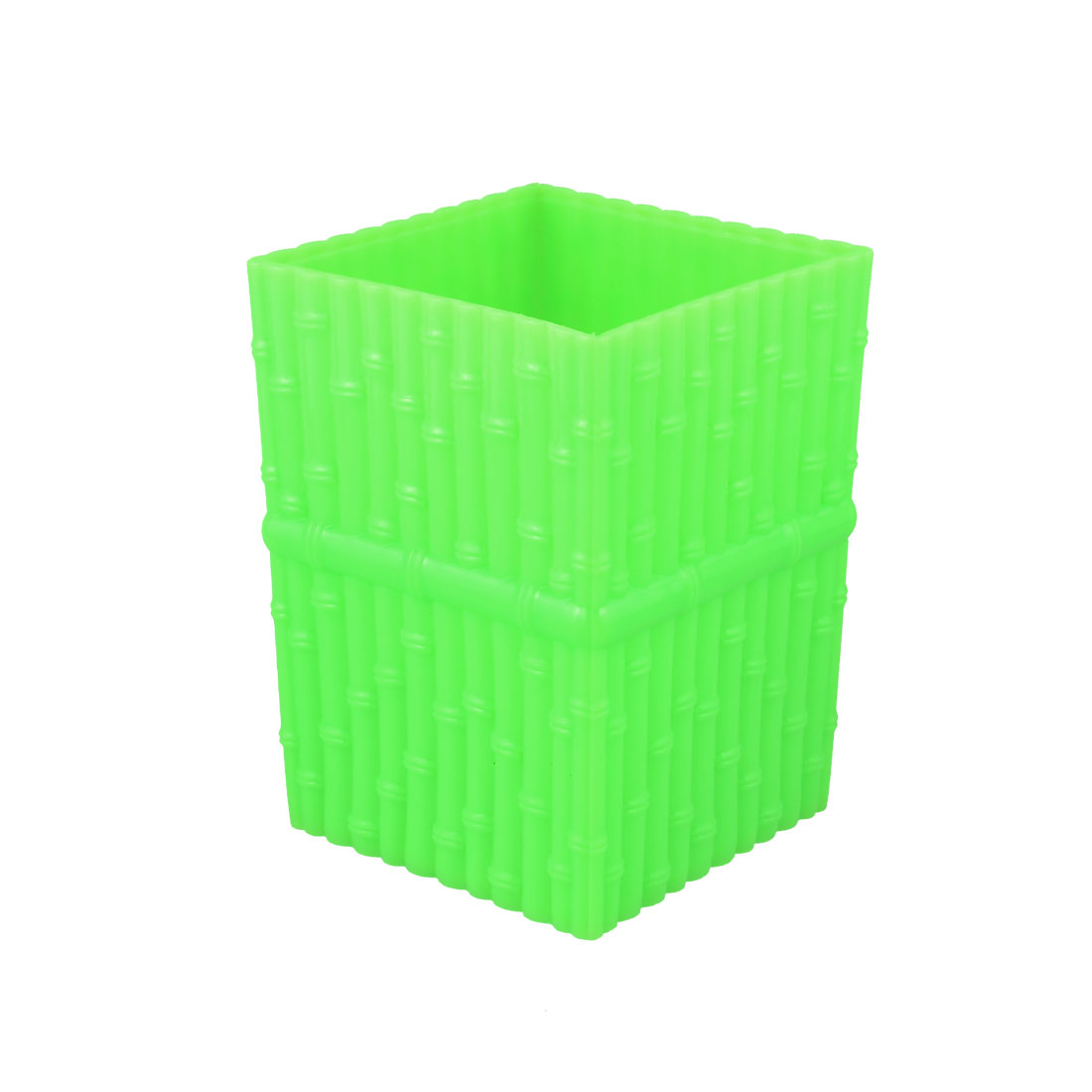 Desktop Decoration Embossing Design Pen Pencil Holder Container Lime Green