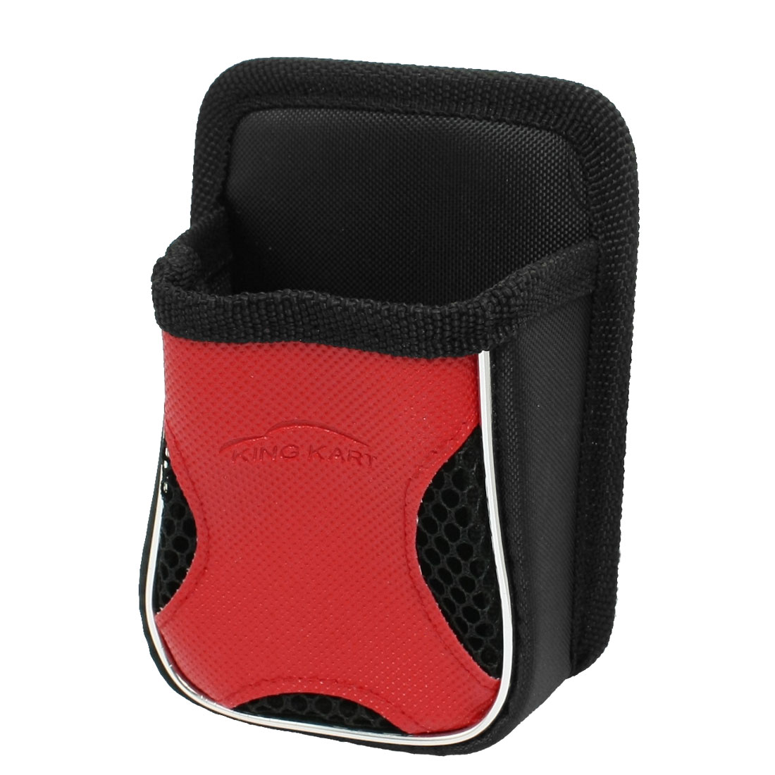 Black Red Mesh Pocket Car Air Vent Holder for Mobile Phone