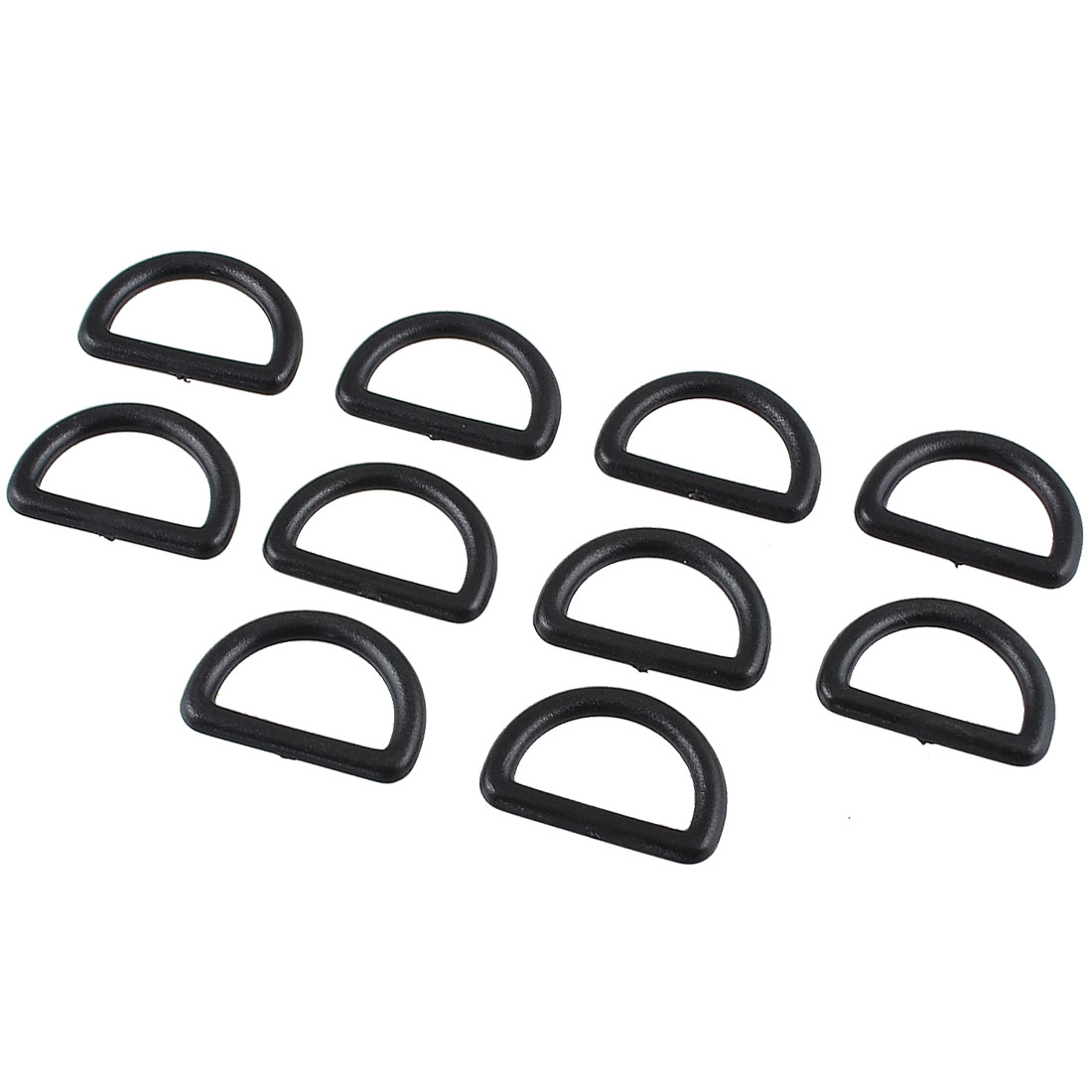 "10pcs Spare Parts Black Replacement D Ring Buckle 0.75"" Strap Width for Handbag"