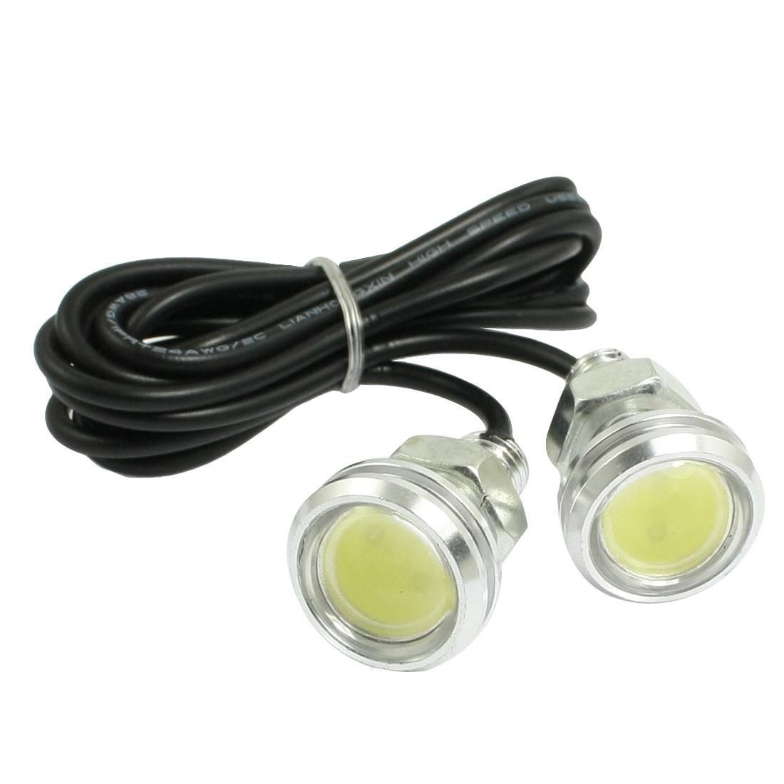 2 Pcs High Power 3W White LED Car DRL Daytime Running Back up Lights