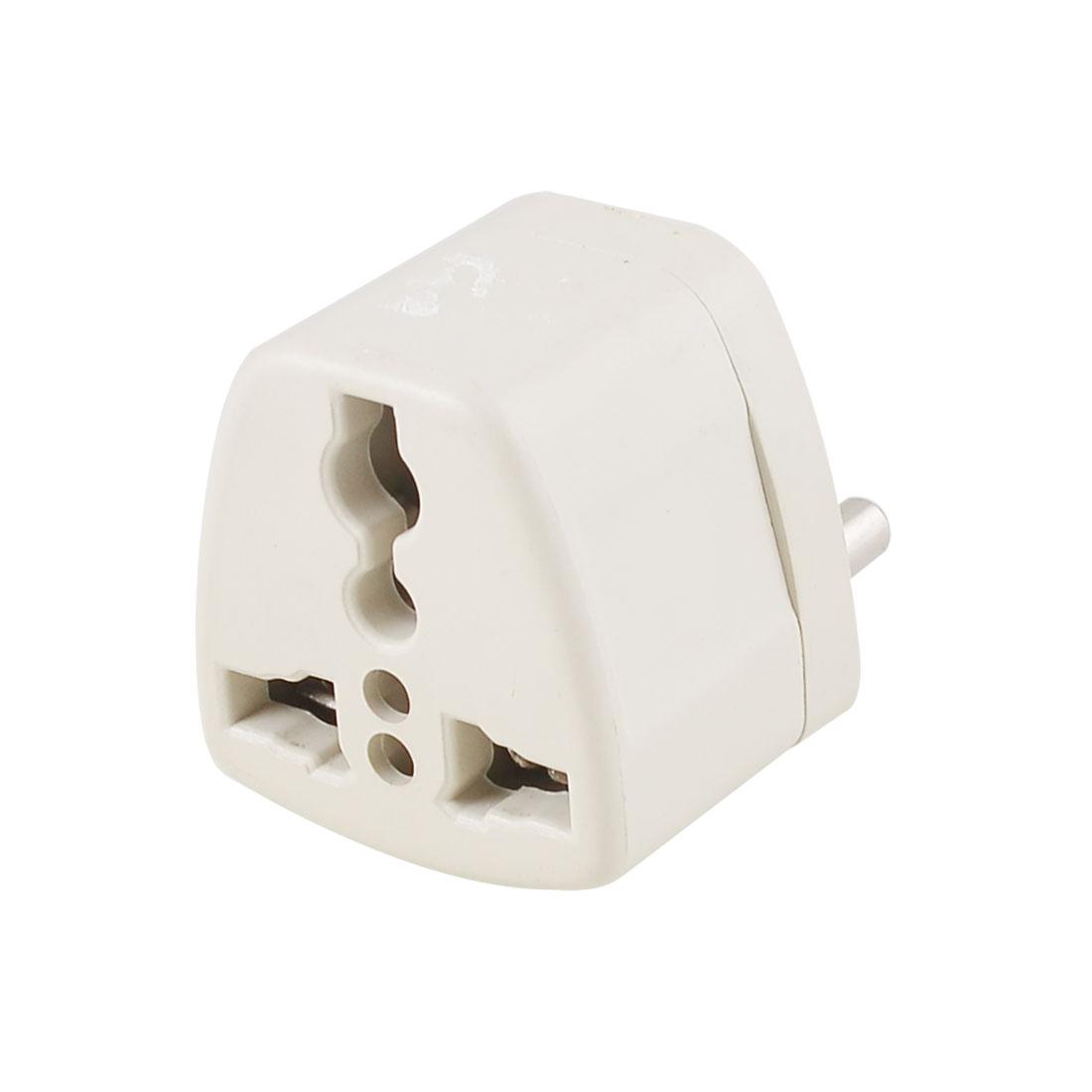 AC 250V 10A EU Plug to EU AU US Socket Travel Wall Adapter Converter Gray