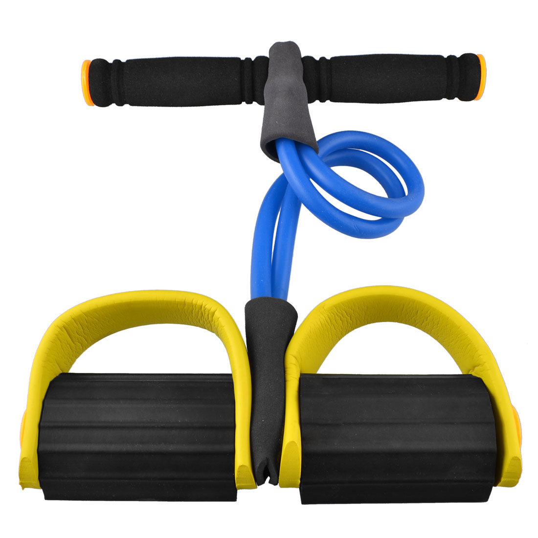 Rubber Stretching Pull up Body Trimmer Exerciser Gut Buster Blue Yellow