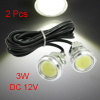 2 Pcs High Power 3W White LED Car DRL Daytime Running Back up Lights