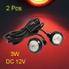 2 Pcs High Power 3W Red LED Car Rear License Plate DRL Fog Bumper Light