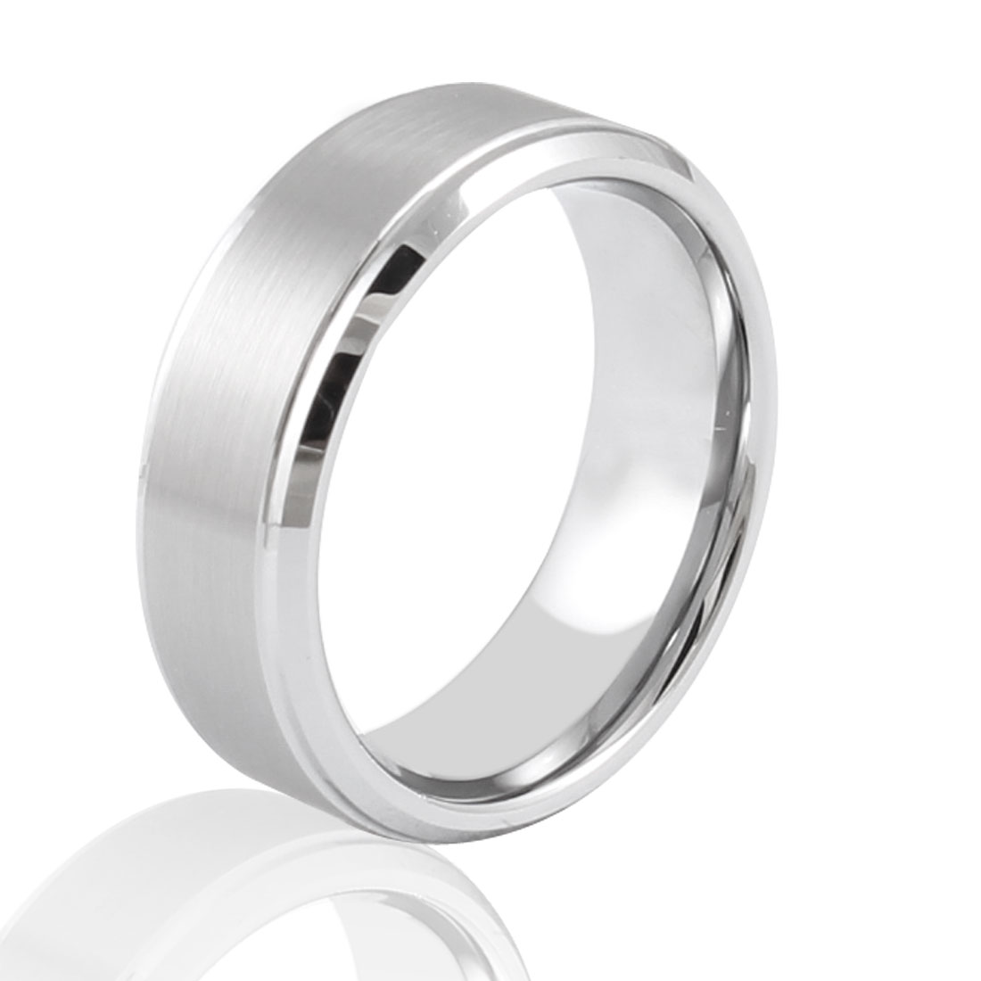 Men 8mm Width Silver Tone Band Ring Fashion Jewelry Us Size 10