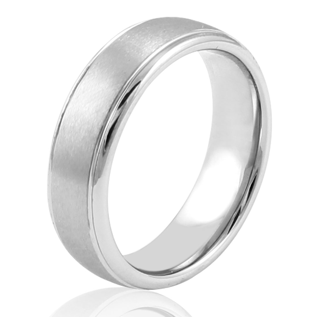 Men 6.5mm Wide Tungsten Steel Band Ring Fashion Jewelry Us Sz 9