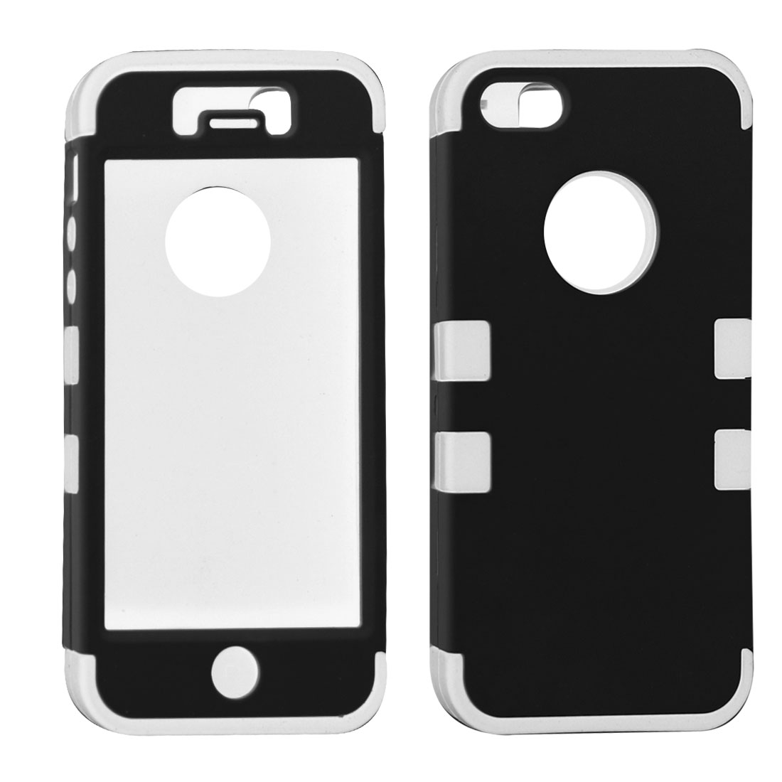 White Black Case Protector Cover for Apple iPhone 5 5G