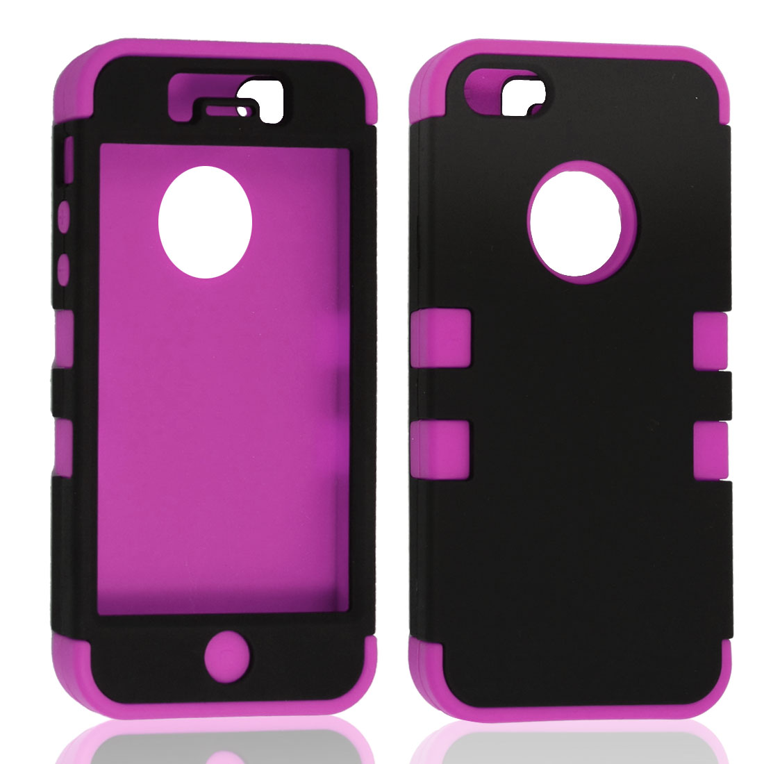 Magenta Black Case Protector for Apple iPhone 5 5G