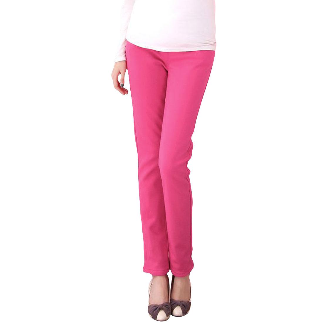 Morherhood Deep Pink Stretchy Waistband Hip Pockets Trousers M