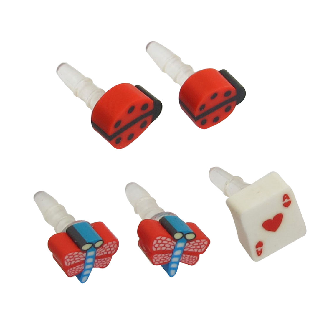 5 Pcs Dragonfly Ladybird Accent 3.5mm Ear Cap Dust